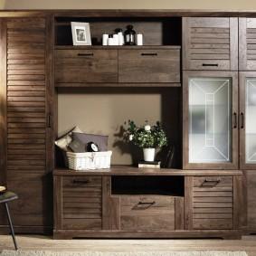 Meubles avec façades en bois pour un salon rustique