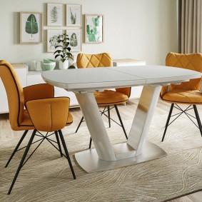 Table pliante blanche en matériaux polymères