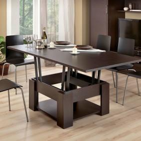 Table transformateur foncé