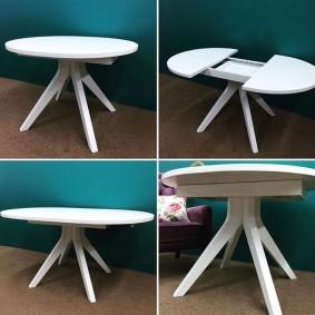 Transformation de la table ronde en ovale