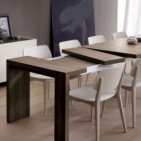 Table de cuisine extensible de haute technologie