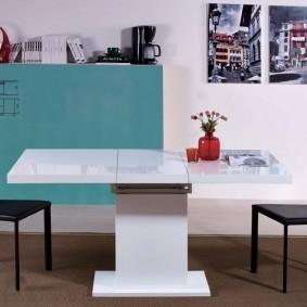 Table pliante en pierre acrylique
