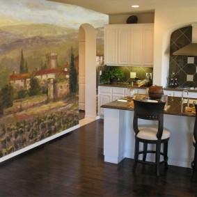 Papier peint cuisine intérieur idées