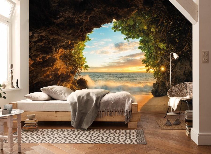 Papiers peints avec perspective sur le mur de la chambre