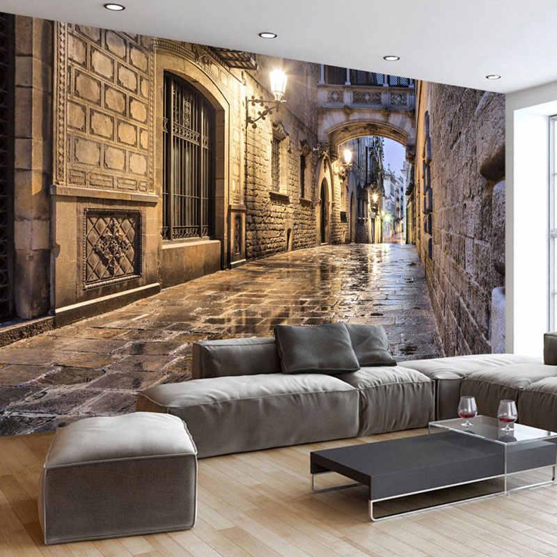 Papier peint élégant avec perspective dans le salon.