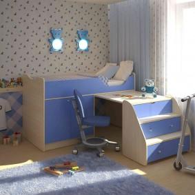 casque dans une chambre d'enfant
