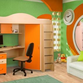 situé dans le décor photo de la chambre des enfants