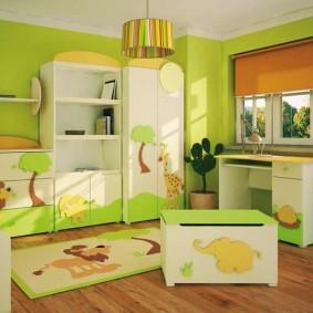 situé dans une chambre d'enfants idées de décoration