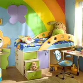 casques d'écoute dans une chambre d'enfant