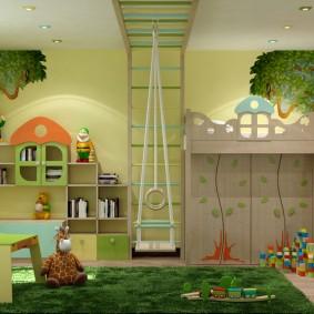 situé dans les types de décoration de la chambre des enfants