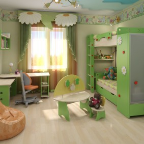 casque dans une chambre photo design pour enfants