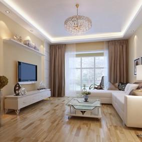 Lumières LED sur le plafond blanc