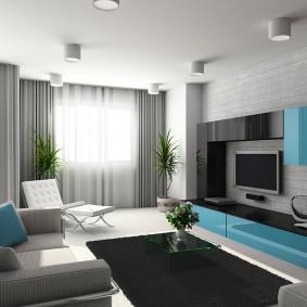 Meuble turquoise de type meuble