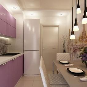 idées d'intérieur de cuisine avec papier peint photo
