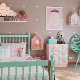peintures à des idées de bébés filles