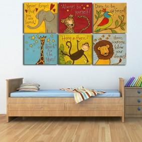 peintures pour la décoration de la chambre des enfants