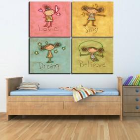 peintures pour chambre d'enfants photo décor