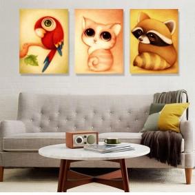 peintures pour l'intérieur de la chambre des enfants
