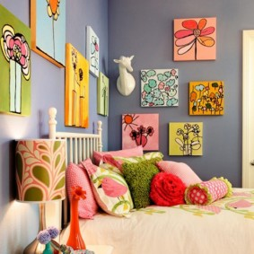 peintures pour la conception de la chambre des enfants