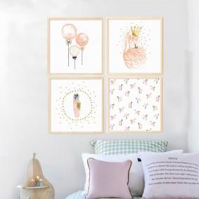 peintures pour des idées de chambre d'enfants