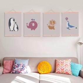 peintures pour chambre d'enfants idées d'intérieur