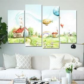 peintures pour chambre d'enfants photo décoration