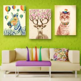 peintures pour chambre d'enfants idées photos