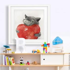 peintures pour des idées de décoration de chambre d'enfants