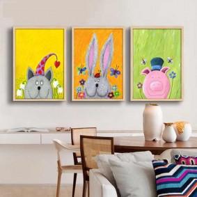peintures pour options d'idées de chambre d'enfants