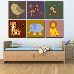 peintures pour chambre d'enfants photo idées