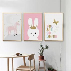 peintures pour chambre d'enfants photo