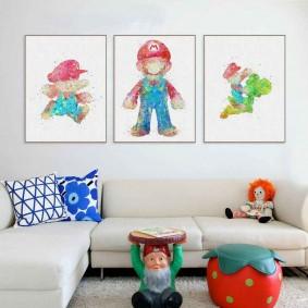 peintures pour chambre d'enfants sortes d'idées