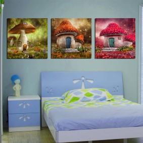 peintures pour chambre d'enfants design photo