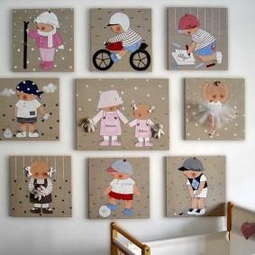 peintures pour chambre d'enfants photo design