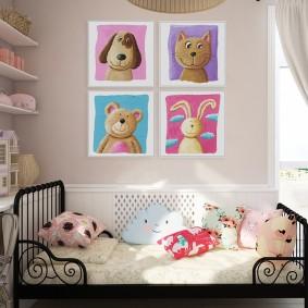peintures pour des idées de conception de chambre d'enfants