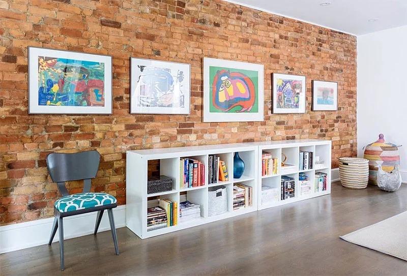 peintures dans un loft pour enfants