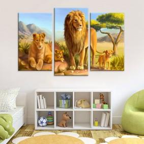 peintures modulaires pour enfants