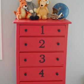 commode pour des idées de décoration de chambre d'enfants
