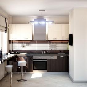 cuisine 9 m² high-tech