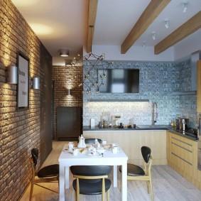 cuisine loft de 9 m²
