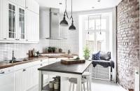 bucătărie 9 mp în stil scandinav