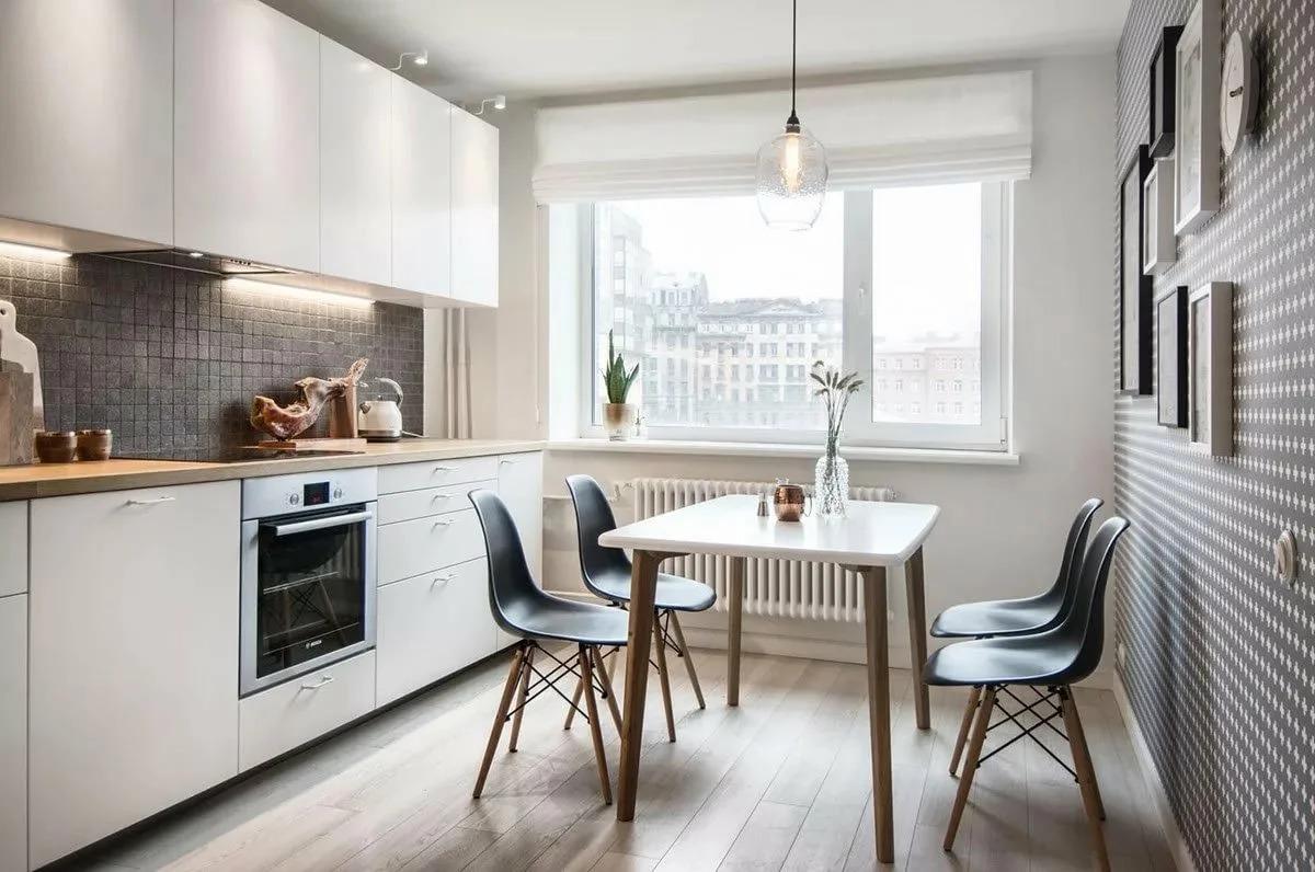 cuisine 9 m² style scandinave