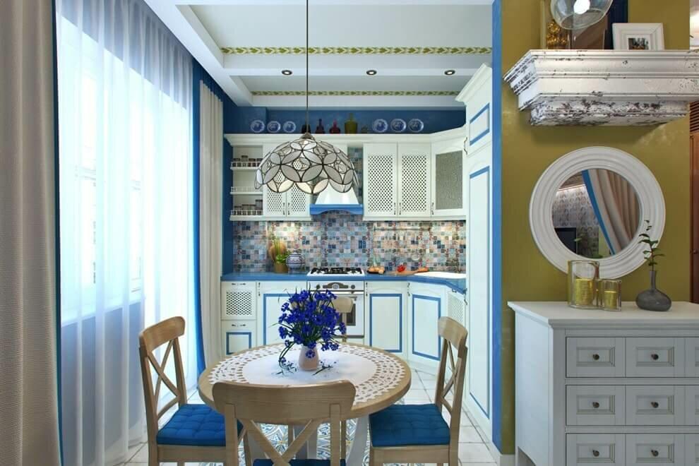 Cuisine de style méditerranéen de 9 m²
