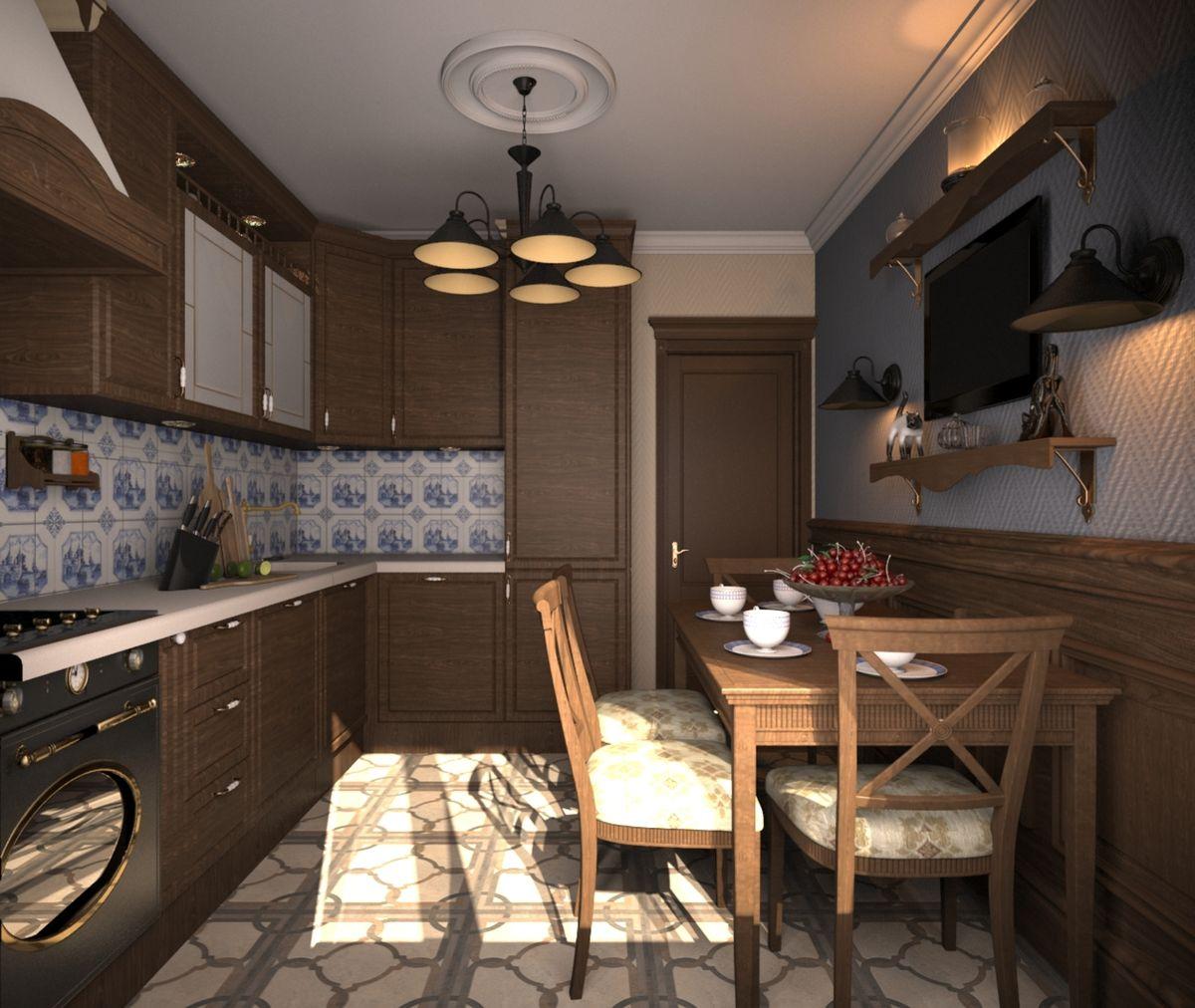cuisine 9 m² style anglais