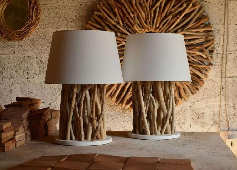 Lampes de branches d'arbres pour la décoration du salon à la campagne