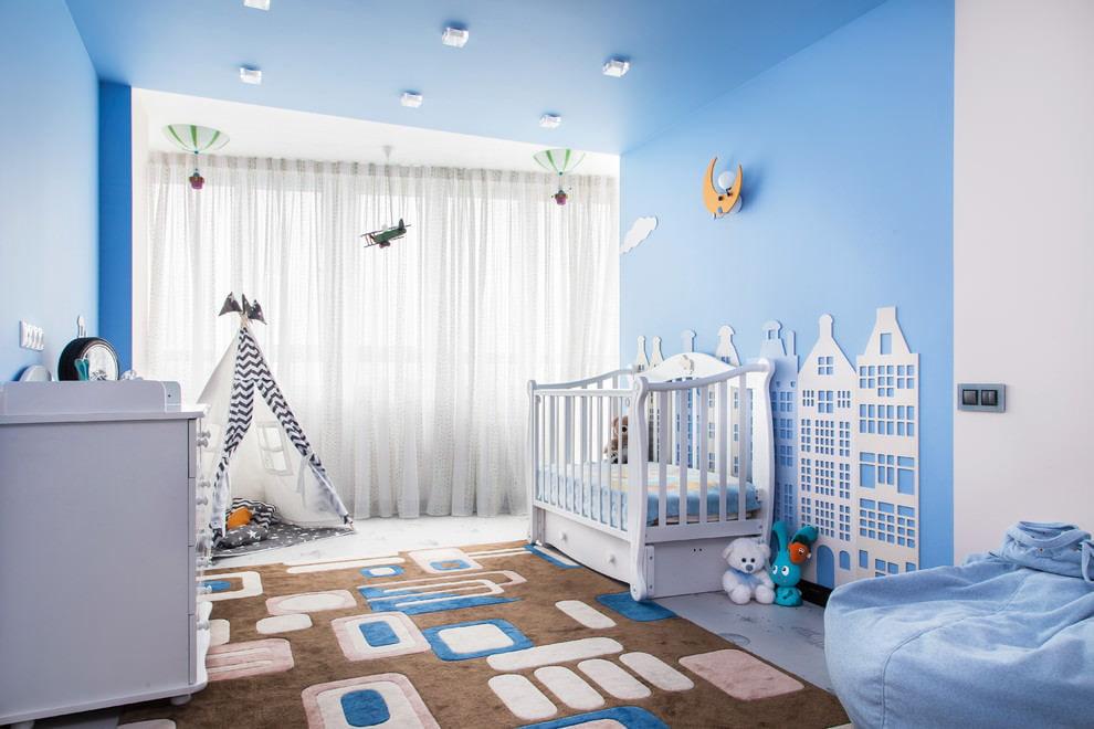 Tapis doux au sol de la chambre pour le nouveau-né