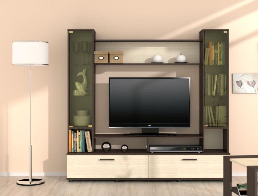 Mur compact avec un téléviseur dans le salon
