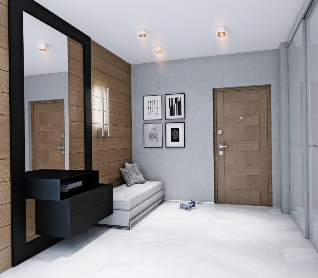 Décor de couloir de style minimaliste