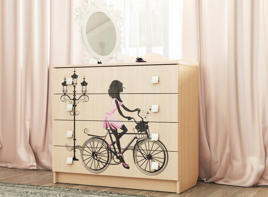 Commode pour enfant dans le style de Paris pour la chambre des filles