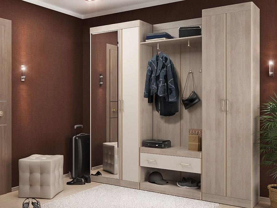 Armoire modulaire à l'intérieur du couloir